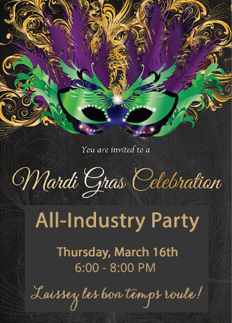 Come celebrate Mardi Gras at EDfest all-industry party!